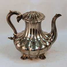 Antique Georgian Silver Plate Coffee / Tea Pot, Circa.1830's