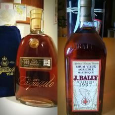 J. Bally Millesime 1997 + Oliver's Exquisito 1985 - Including Original Boxes