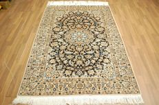 Genuine hand-knotted PERSIAN carpet NAIN/IRAN - TOP QUALITY - with SILK CARPET