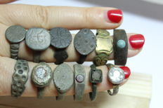 Medieval collection of rings (12)