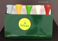 Rolex wooden golf tees (5) and plastic marker (1) - Unisex