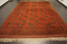 Wonderfully beautiful antique hand-knotted Art Deco Afghan oriental carpet, 265 x 372 cm, Afghan, made in Afghanistan