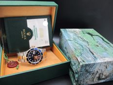1993 ROLEX SUBMARINER 16613 2-TONE BLUE DIAL WITH BOX AND PAPER
