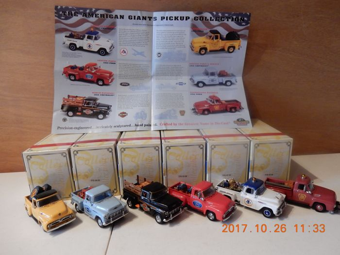 Matchbox - Scale 1/43 - Lot with 6 models: YIS 01 to YIS 06  - Series USA Pick-up