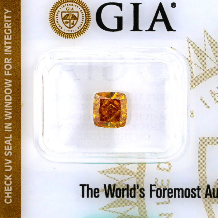 Rare collection stone, 1.51 ct. Natural Yellow Orange color Diamond, GIA Certified Low Reserve price.