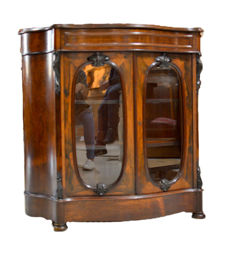 A Victorian rosewood and glass Credenza of small proportions - England, ca. 1860