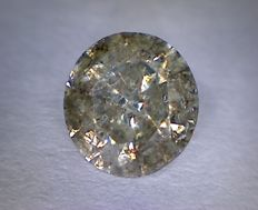 "Diamond 0.82 ct, round cut, colour M I2 ""NO RESERVE PRICE"""