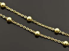 "18k Gold Necklace. Chain ""Brill & Bead"". Length 45 cm"