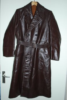 Vintage leather Solex / Moped jacket with matching leather mittens