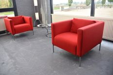 Piero Lissoni for Living Divani - set of Twin armchairs