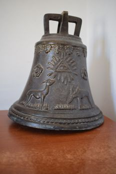 Masonic bronze bell - Italy - 20th century