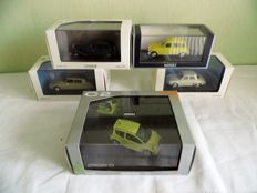 Norev - Scale 1/43 - Lot with 5 French models: Citroen & Renault