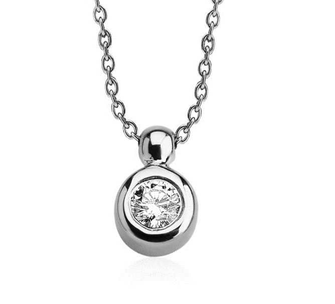 14 Kt White Gold, Diamond Necklace