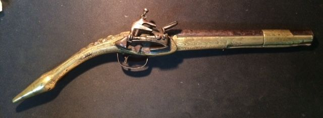 All-metal flintlock pistol, late 18th century