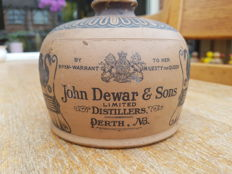 1/4 gallon whisky jug for John Dewar & Sons by Doulton Lambeth