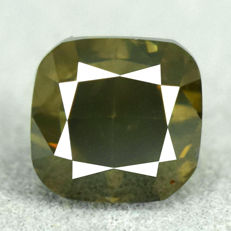 Diamond - 2.14 ct, Si1 – Natural Fancy Dark Yellowish Green