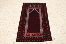 Hand-knotted Persian carpet, Baluch, old, approx. 145 x 86 cm