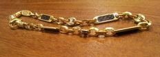 Two-tone 18 kt gold bracelet