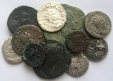 Roman Imperial and Republic - Lot of 11 Silver and Bronze coins (11x)