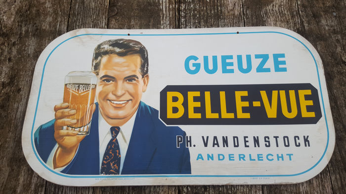 Advertising plate Gueuze Belle Vue - year 1962