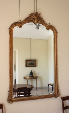 Gilt wood wall mirror - Louis XVI style - France - 19th century