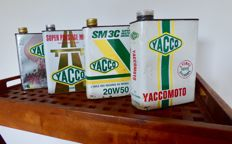 4 vintage oil cans of Yacco