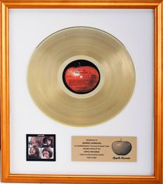 """The Beatles Gold Capitol Records Award - """"Let it Be"""" - PRESENTED TO GEORGE HARRISON"""