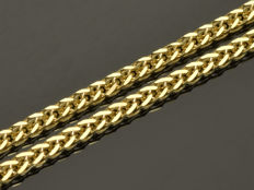 "18k Gold Necklace. Chain ""Wheat"". Length 50 cm"