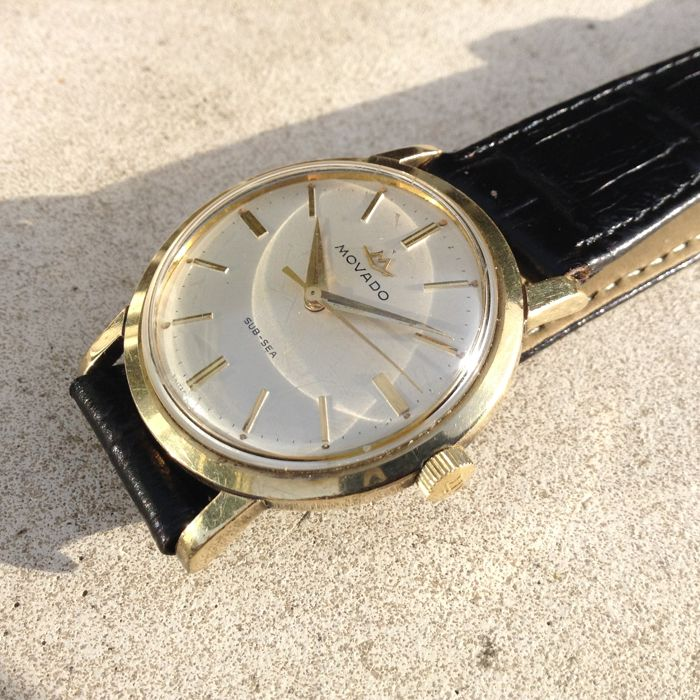 Movado - GOLD-CAP on Steel - 50/60's SUB-SEA - No Date - Herren - 1960-1969