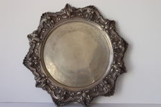 Large Silver tray , eagle 916 , 1149gr  - Portugal