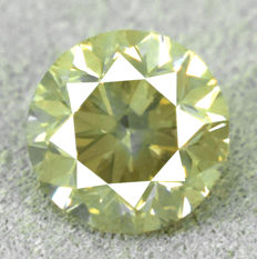 Diamond - 1.01 ct, Si1 – Natural Fancy Intense Greyish Yellow