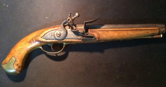 Flintlock pistol, late 18th century