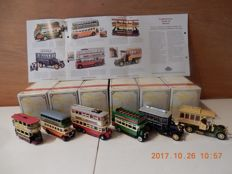 Matchbox Models of yesteryear - Scale 1/43 - Lot with 6 models YET01-YET06 - Series buses and Trams