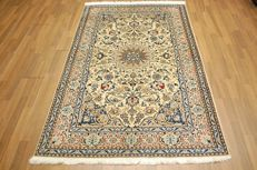 Genuine hand-knotted PERSIAN carpet NAIN/IRAN - TOP QUALITY - with SILK PARTS