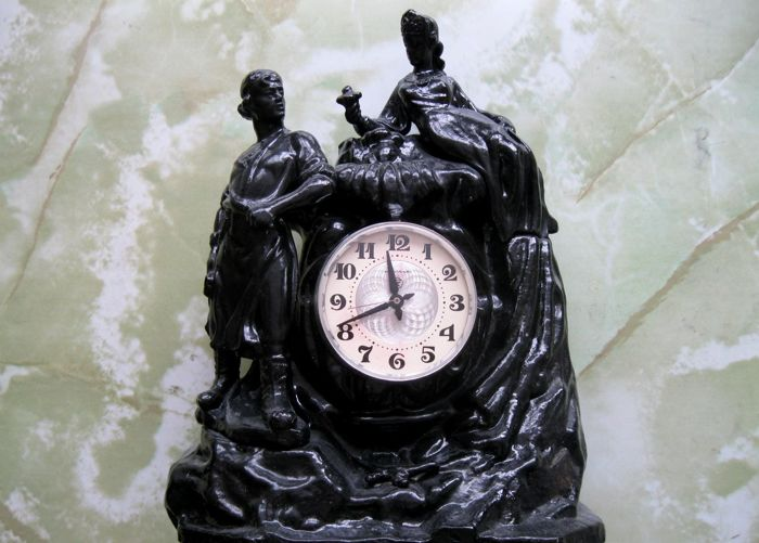 USSR Mantel clock – Mistress of Copper Mountain – MOLNIJA – 1970s