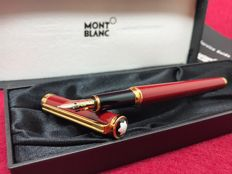 Montblanc Noblesse Oblige Burgundy Resin & Gold Fountain Pen