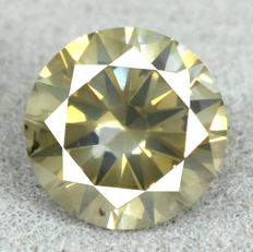 Diamond - 1.14 ct, Natural Fancy Dark Yellowish Green Si2