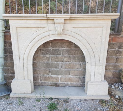 Stone fireplace - Italy - late 19th century