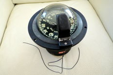 Large maritime compass - to built-in - White star - Riviera, Genova