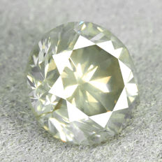 Diamond - 1.22 ct, NO RESERVE PRICE - Natural Fancy Greyish Yellow