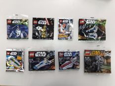 Star Wars - 30053 + 30241 + 30243 + 30274 + 30496 + C-3PO + Imperial Snowtrooper Limited Edition + A-Wing Limited Edition - Rare Polybags