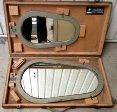 Sewer mirrors metal with mirror glass Netherlands beginning second half 20th century