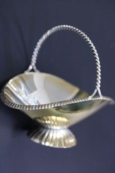 Silver basket antique 835 silver, Germany