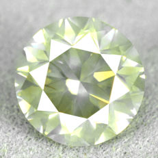 Diamond - 1.51 ct, Natural Fancy Greyish Yellow Si2