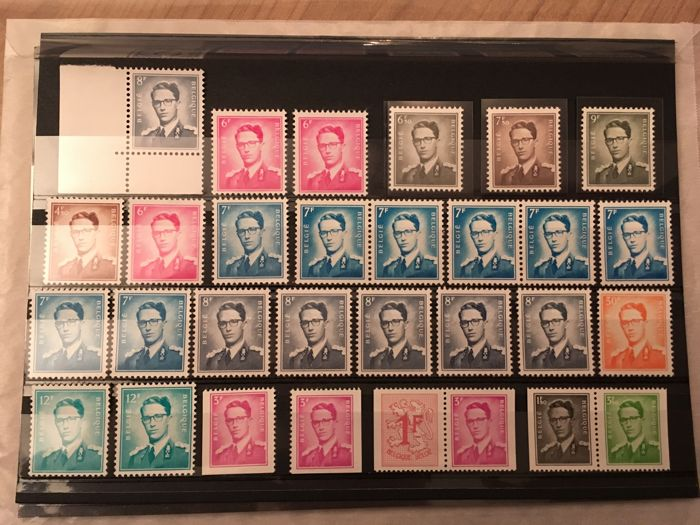 belgium selection of stamps of king boudewijn type marchand catawiki. Black Bedroom Furniture Sets. Home Design Ideas