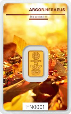 "ARGOR-HERAEUS: 2 g of gold ""Following Nature - Limited Edition Autumn 2017"""