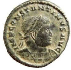 Roman empire -Interesting Constantine I AE follis. Trier BTR·. SOLI INVICTO COMITI.
