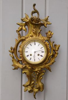 French cartel clock - Bronze - 1885 period