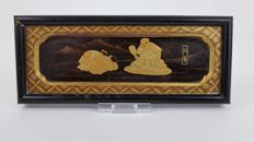 Gold lacquer panel - Japan - late 19th century