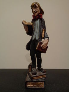 Woodcarving of a thespian - Spain - 20th century